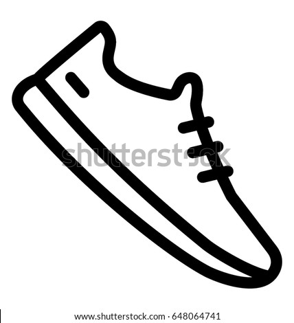 sneakers vector icon stock vector hd royalty free 648064741 rh shutterstock com cartoon tennis shoes pictures cartoon character tennis shoes