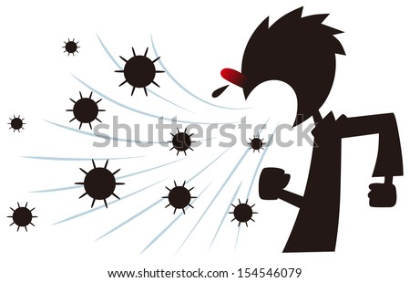 Sneezing - stock vector