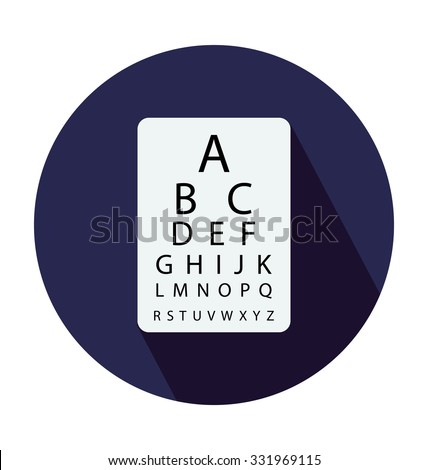 Snellen Chart Colored Vector Icon