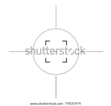 Sniper rifle target cross hairs silhouetted on white background. - stock vector