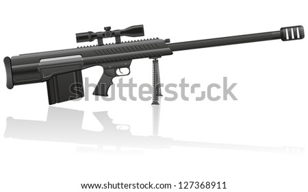 sniper rifle vector illustration isolated on white background