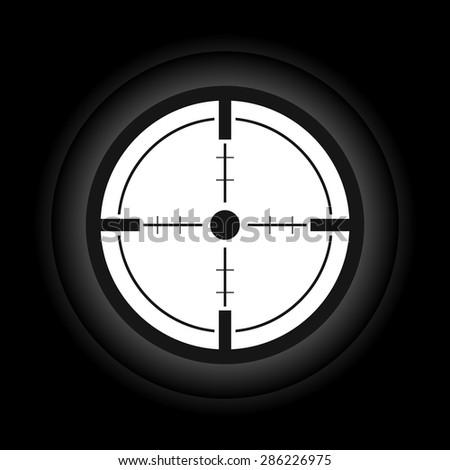 Sniper scope cross hairs - Vector - stock vector