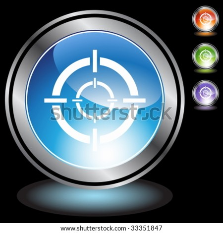 sniper target chrome crystal - stock vector