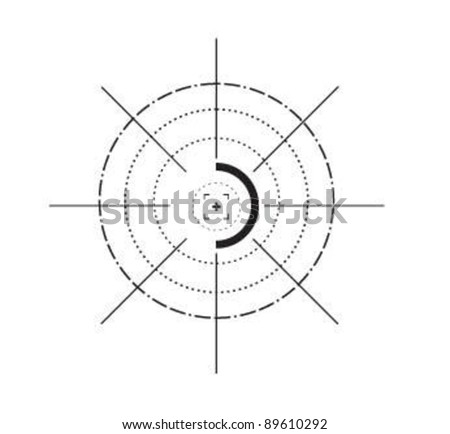 Sniper target scope or sight. - stock vector