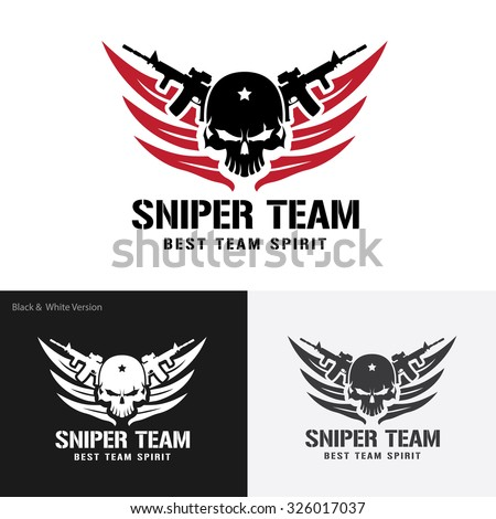 Sniper Team Games Logo Template Stock Photo (Photo, Vector ...