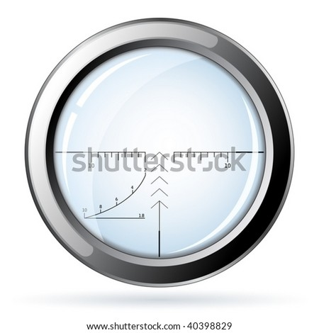 Sniper - vector. All transparent elements can be easily removed. - stock vector