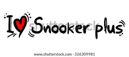 Snooker plus love - stock vector