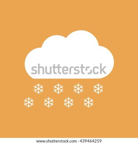 Snow cloud winter icon vector - stock vector