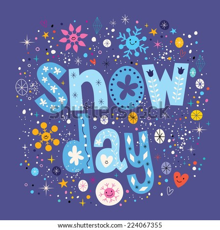 snow day - stock vector