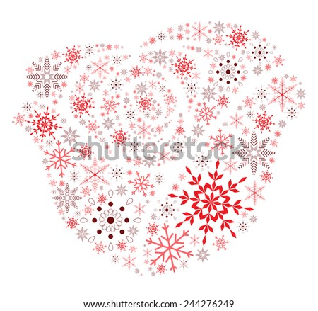 Snow Flake Rose - stock vector