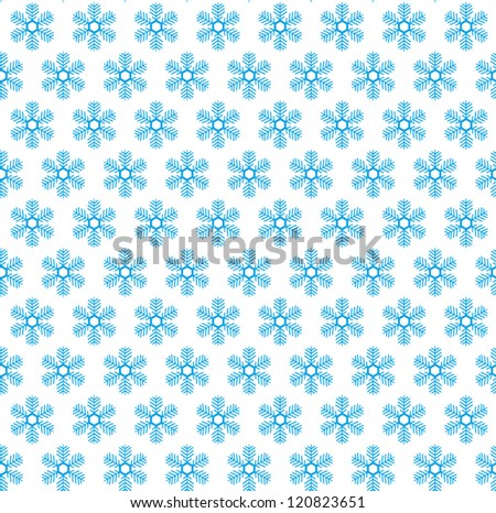 Snow flake seamless pattern. Christmas background. Vector illustration
