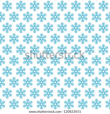 Snow flake seamless pattern. Christmas background. Vector illustration - stock vector