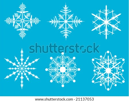 snow flakes collection set 2
