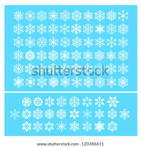 Snow flakes vector - winter series clip-art - stock vector