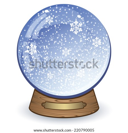 Snow globe isolated on white background. Vector Illustration  - stock vector