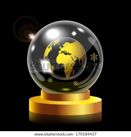 Snow globe world map stock photo photo vector illustration snow globe with world map gumiabroncs Choice Image
