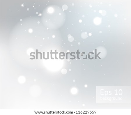 Snow gray winter background, EPS10 file with transparency effects - stock vector