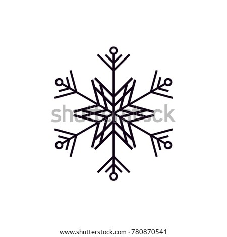 snow icon and vector