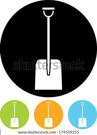 Snow shovel vector icon - stock vector