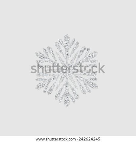 snow sign, transparent water drop vector - stock vector