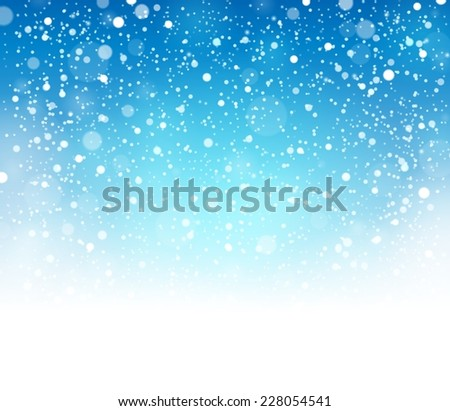 Snow theme background 8 - eps10 vector illustration. - stock vector