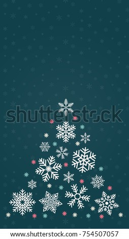 Snow Vector Merry Christmas Wallpaper Free Space For Text Tree