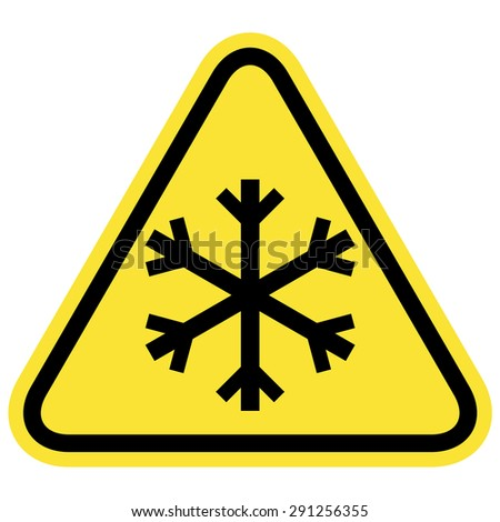 Snow warning sign - stock vector