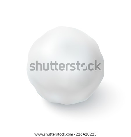 Snowball icon isolated on white background. Vector illustration - stock vector