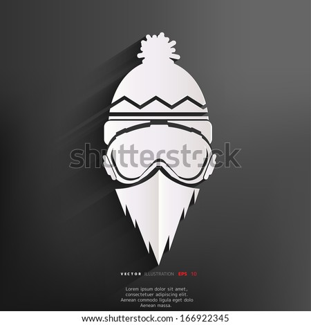 Snowboarder icon - stock vector