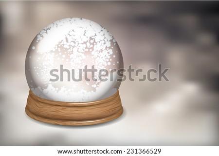 Snowdome - stock vector