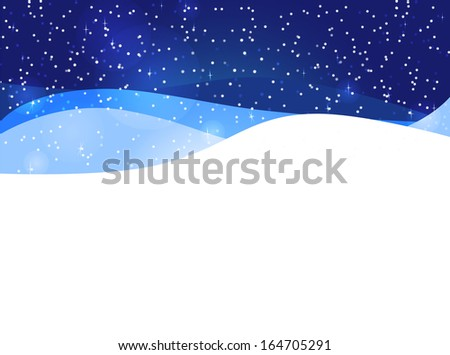 snowdrift - stock vector