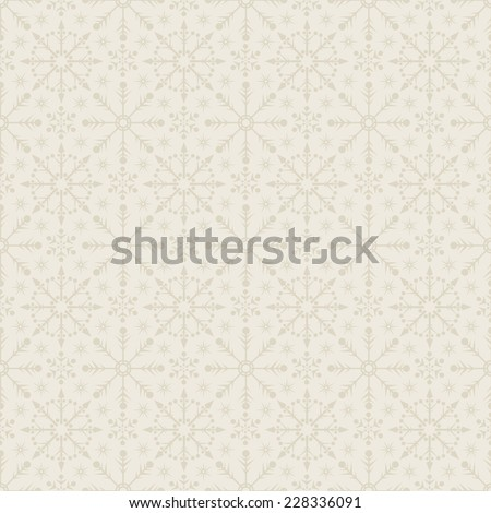 Snowflake Abstract Background. Seamless wallpaper - stock vector