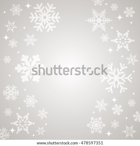 Snowflake Abstract Christmas Vector Background