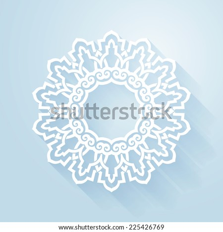 Snowflake abstract design. Vector snowflake design element can be used for Christmas, Xmas, winter and snow based design projects. - stock vector