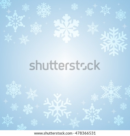 Snowflake Abstract Vector Background