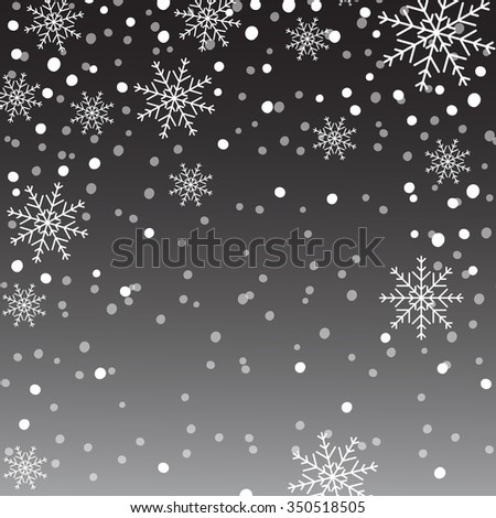 Snowflake background, Christmas Decoration.  - stock vector
