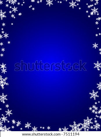 Snowflake Border - stock vector