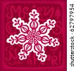 Snowflake Christmas postcard - stock photo
