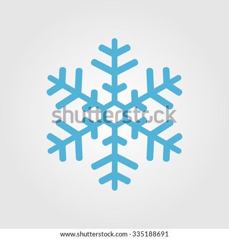 Snowflake Icon graphic.  - stock vector
