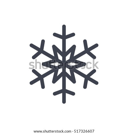 Snowflake Icon Gray Silhouette Snow Flake Stock Vector Hd Royalty