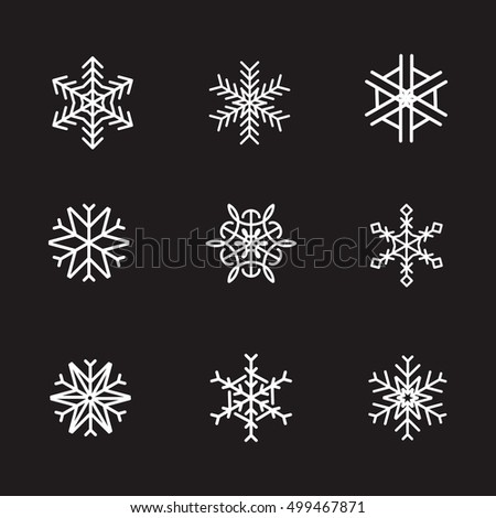 Snowflake Icon Logo Symbol Vector Illustration Stock Vector