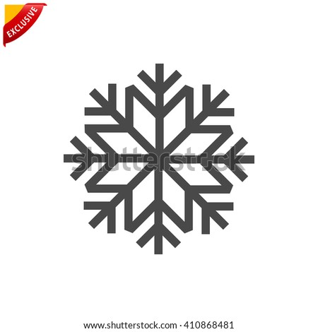 Snowflake Icon Vector Snowflake Sign Isolated Stock Photo Photo