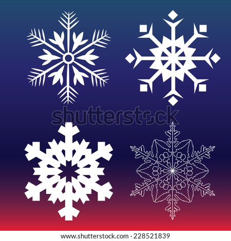 Snowflake icons - Vector