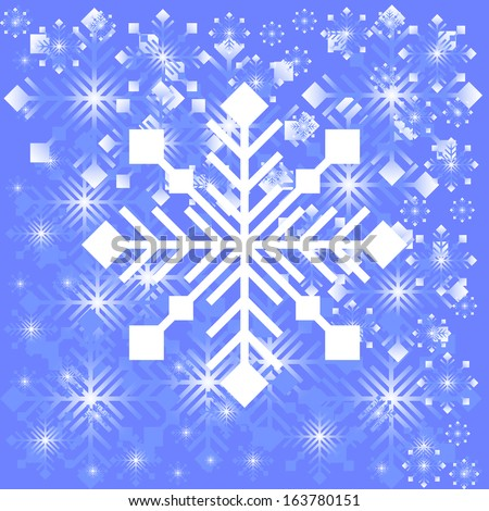 Snowflake light background