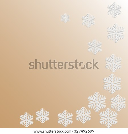 snowflake pattern on paper background  surround