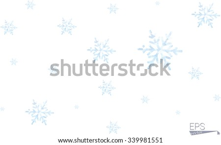 Snowflake Pattern - polygonal  low poly style vector Snowflakes on white background - stock vector