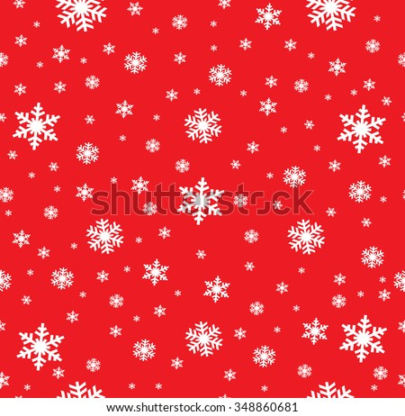 Snowflake Pattern - Snowflake vector pattern. Each snowflake is grouped individually for easy editing. - stock vector