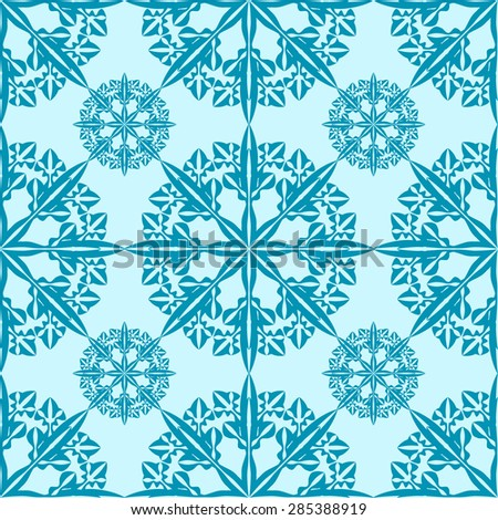 Snowflake seamless pattern for endless backgrounds, printings, Christmas and other creative designs.