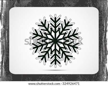 Snowflake sign icon