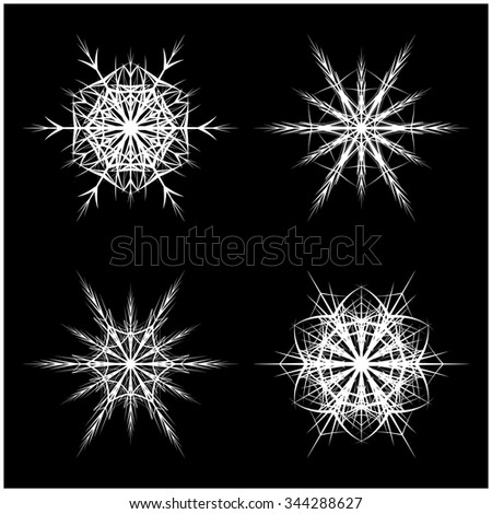 Snowflake Silhouette Icon Symbol Design Winter Stock Vector